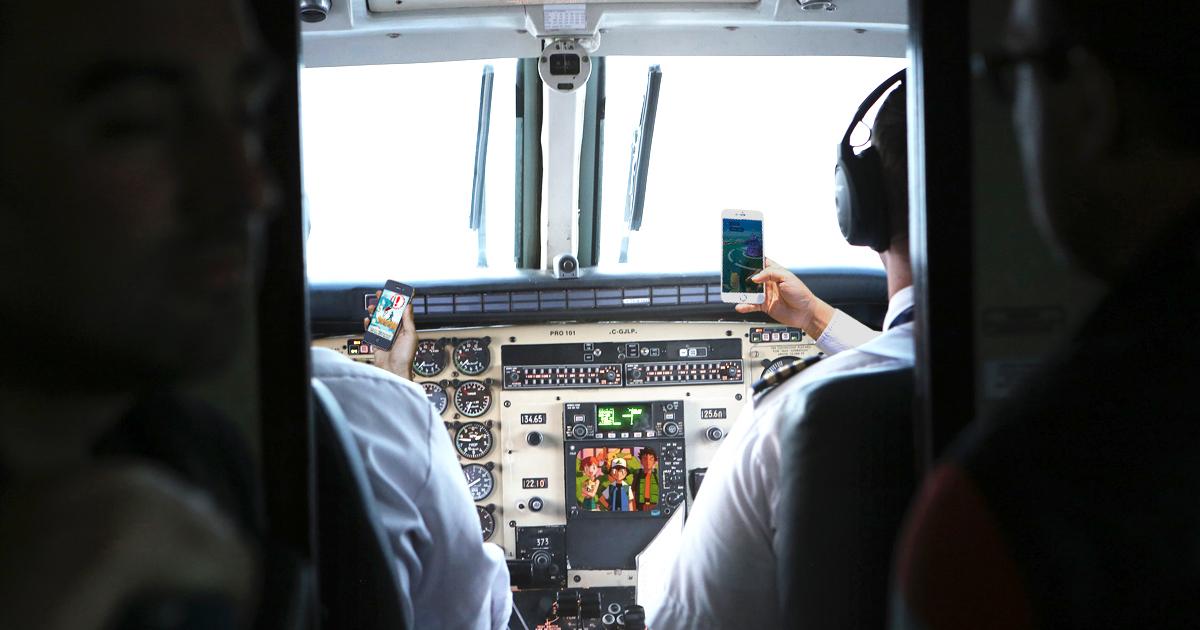 Piloten spielen Pokémon Go
