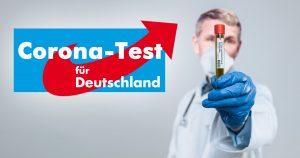 Kostenloser Corona-Test - Einfach Stuhlprobe zur AfD schicken