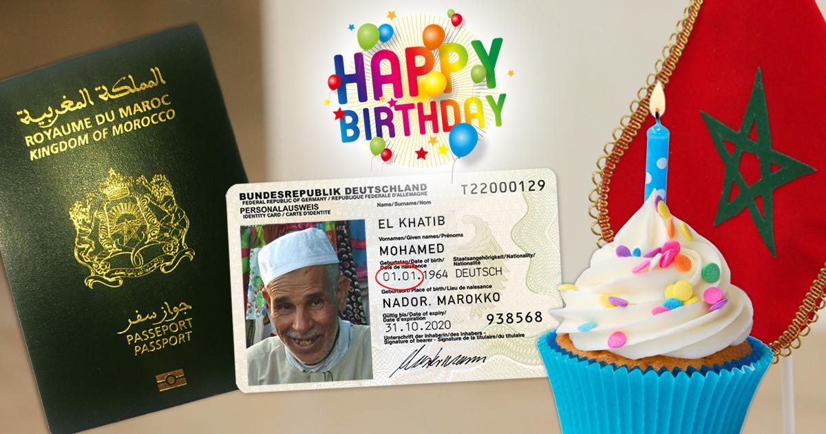 Neujahr - Marokkaner gratulieren sich am 1.1. massenhaft zum Geburtstag