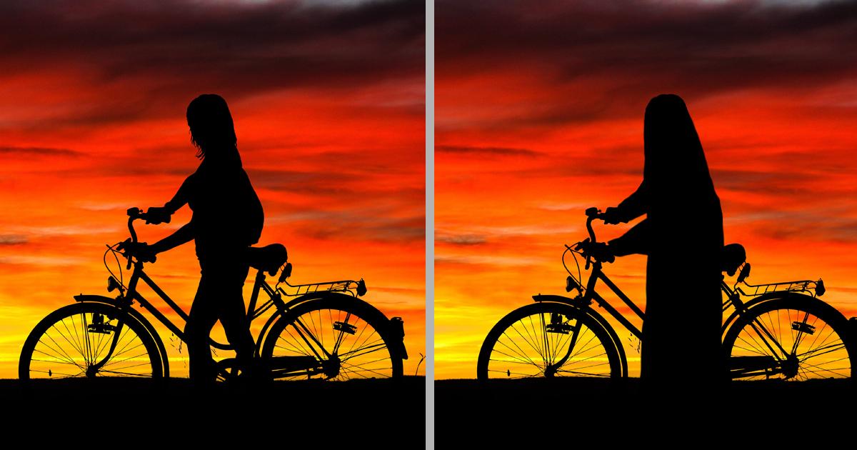7 Photoshop Fails: So geht Werbung in Saudi Arabien - Fahrrad