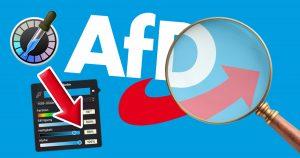 Noktara - 88 % Helligkeitswert - Versteckte Nazi-Codes im AfD-Logo aufgedeckt