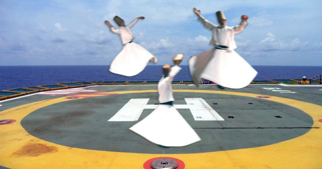 Abgedreht: Landeplatz für Sufi-Derwische eröffnet