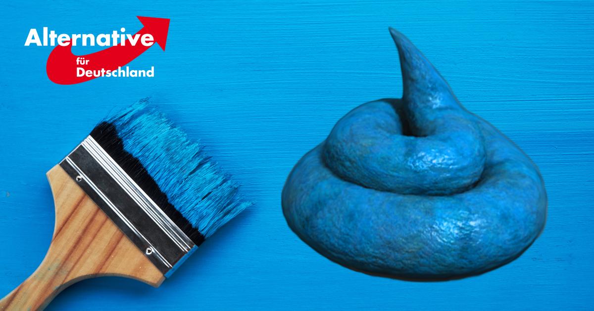 Noktara - AfD-Haufen malt braune Kacke blau an und nennt es Alternative