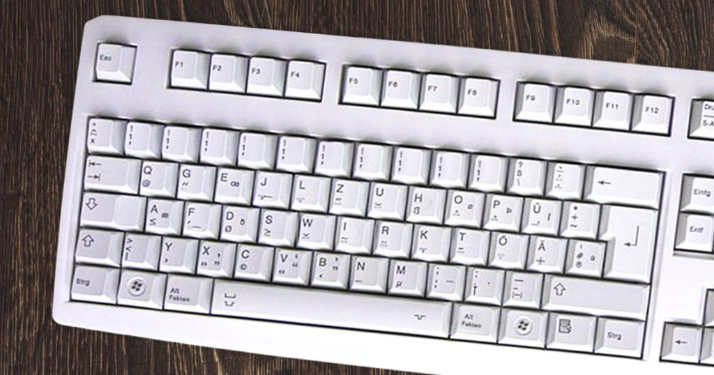 Noktara - AfD-Maus - Damit kann man nur noch rechtsklicken - Tastatur