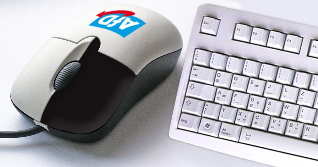 Noktara - AfD-Maus - Damit kann man nur noch rechtsklicken - Tastatur und Maus