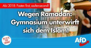 Noktara - AfD empört - Aufgrund von Ramadan Sektempfang erst nach Sonnenuntergang - Fasten first - saufen second