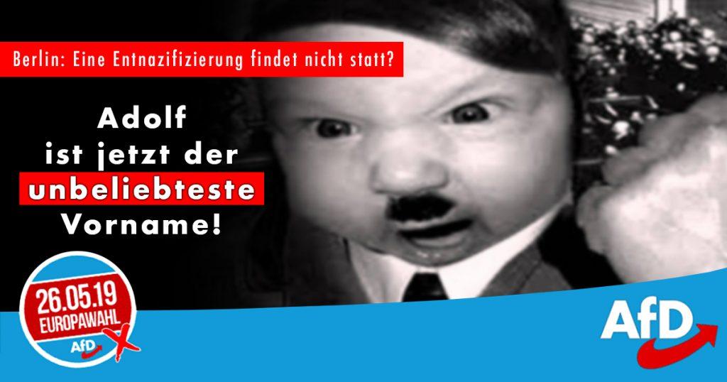 Noktara - AfD empört, weil Adolf nicht mehr der beliebteste Vorname Deutschlands ist