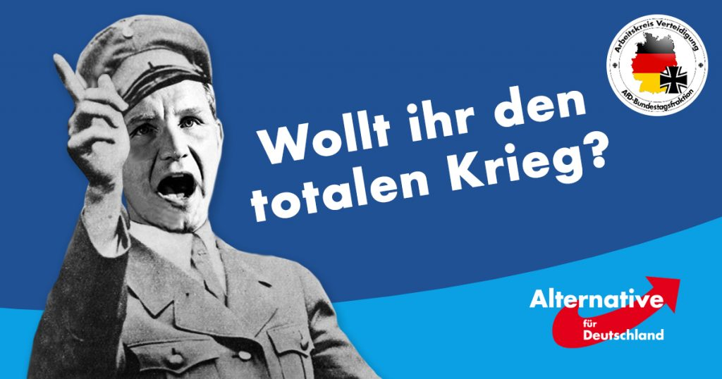 Noktara - AfD erklärt Bundeswehr wegen Parteikritik den totalen Krieg - Arbeitskreis Verteidigung