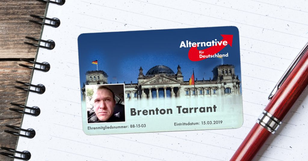 Noktara - AfD ernennt Christchurch-Terrorist Brenton Tarrant zum Ehrenmitglied