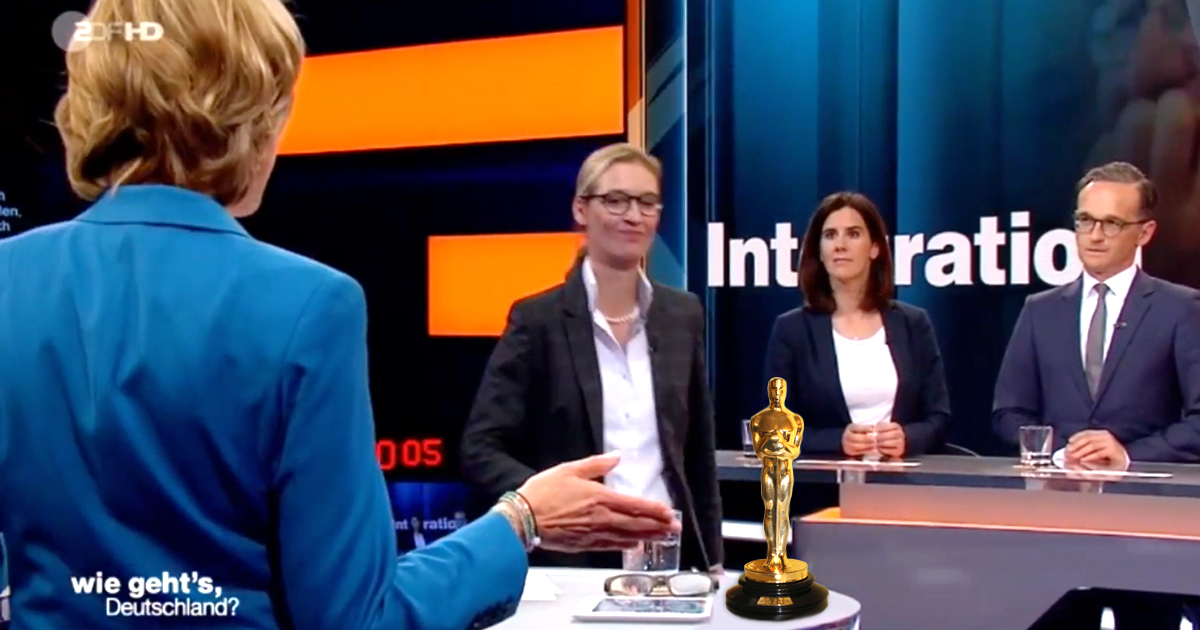 Alice Weidel weigert sich Oscar für ihren Abgang anzunehmen