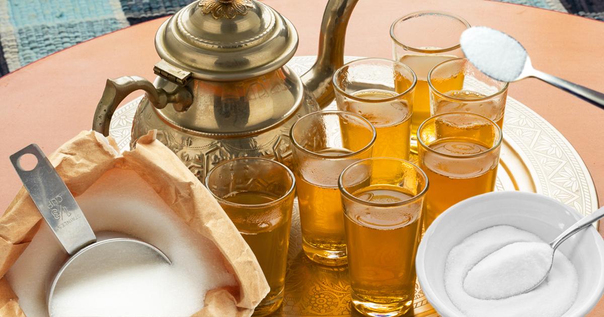 Noktara - Atay- Marokkaner trinken Zucker mit etwas Tee