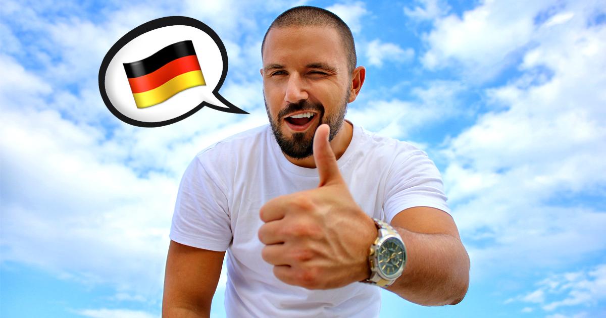 Ausländer froh für Deutschkenntnisse gelobt zu werden