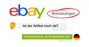 Noktara - Ausländer nutzt deutsch klingenden Namen auf eBay, um Artikel zu bekommen, der schon weg ist