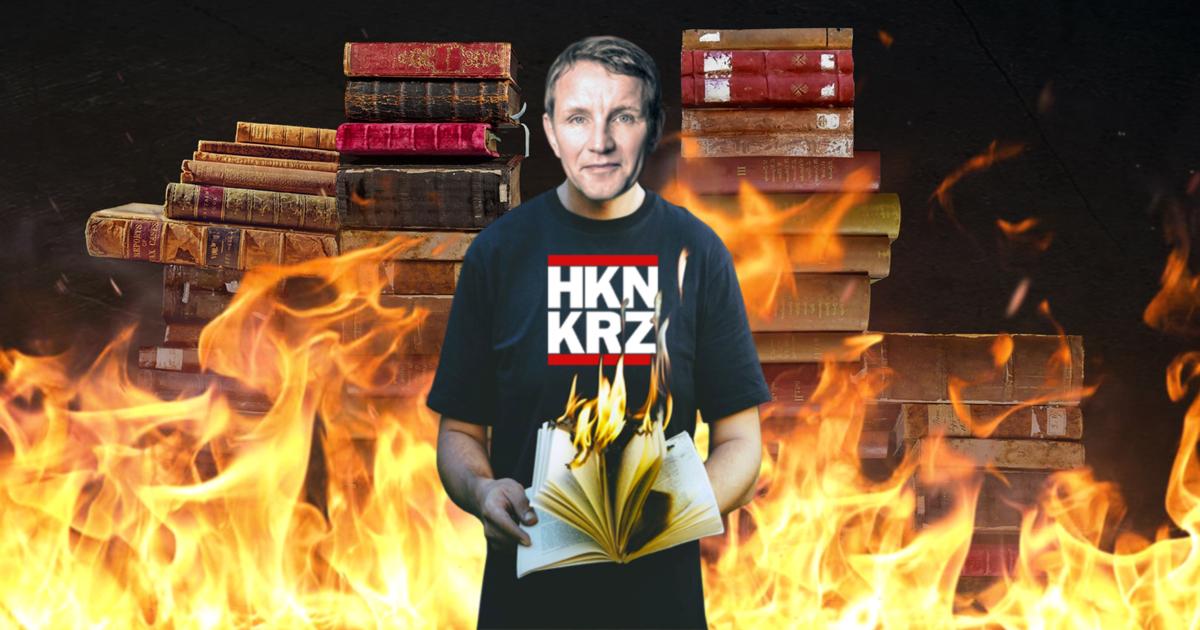 Noktara - Bücherverbrennung - Bernd Höcke auf der Frankfurter Buchmesse