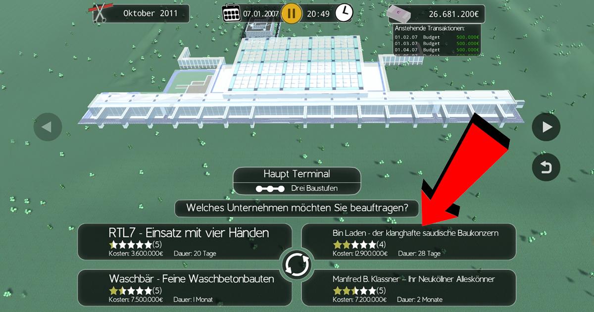 Noktara - BER Bausimulator Remastered Review - Wir haben es getestet - Bin Laden
