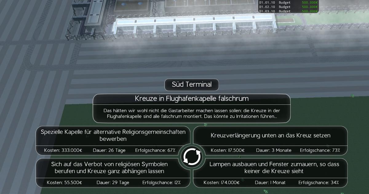 Noktara - BER Bausimulator Remastered Review - Wir haben es getestet - Kreuze falschherum
