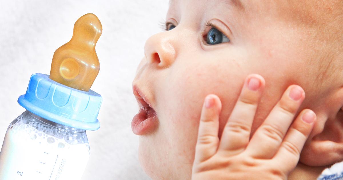 Baby erleichtert, dass es doch nicht fasten muss