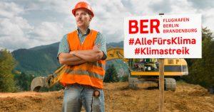 Noktara - Bauarbeiter des BER-Flughafens streiken heute für das Klima
