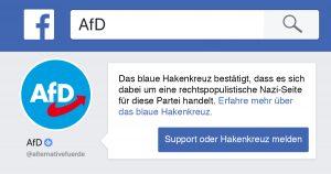 Noktara - Blaues Hakenkreuz- Facebook verifiziert AfD als Nazi-Seite-Unzensiert