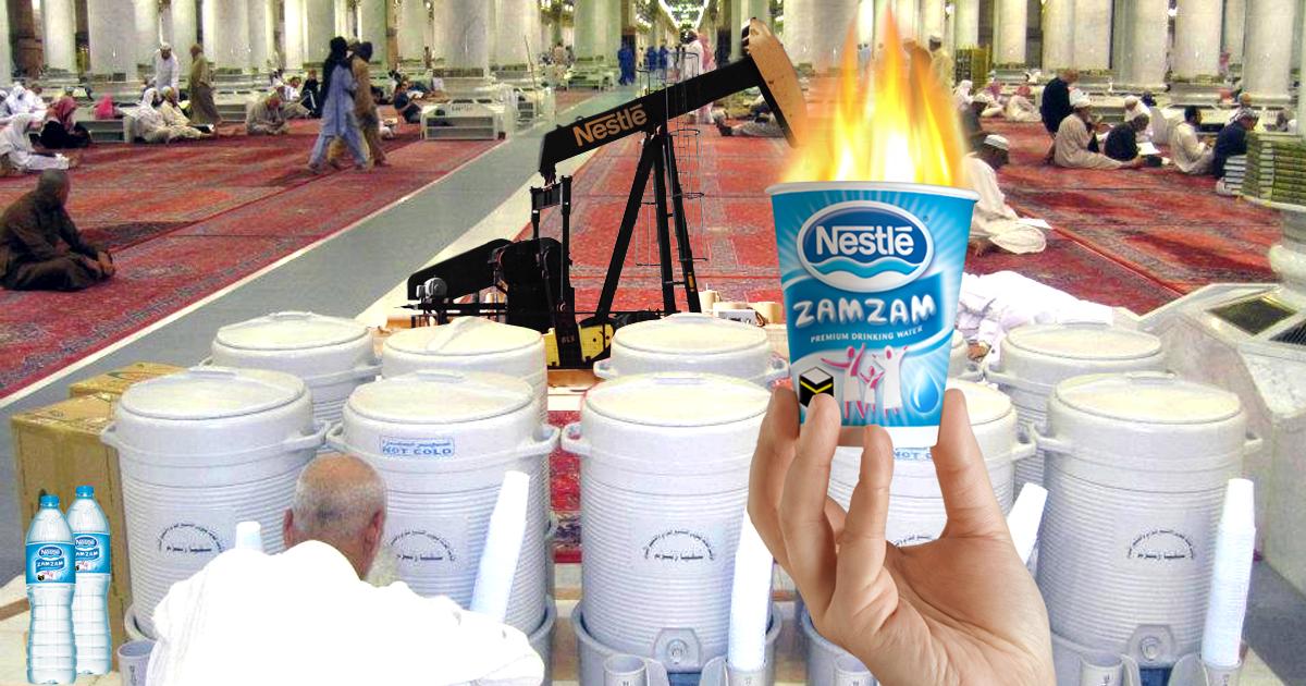 Brennendes Zamzam-Wasser: Nestlé betreibt Fracking in Mekka