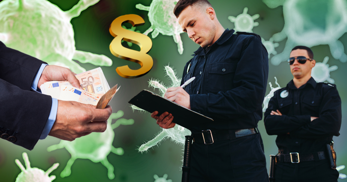 Noktara - Bußgeldkatalog - So teuer sind Verstöße gegen Corona-Schutzmaßnahmen