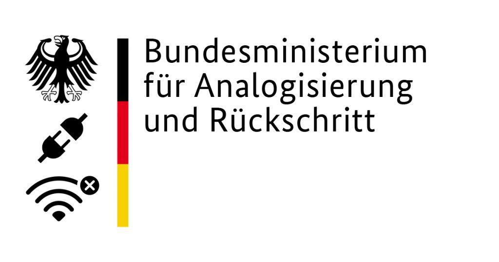 Noktara - Bundesregierung schafft Ministerium für Analogisierung und Rückschritt