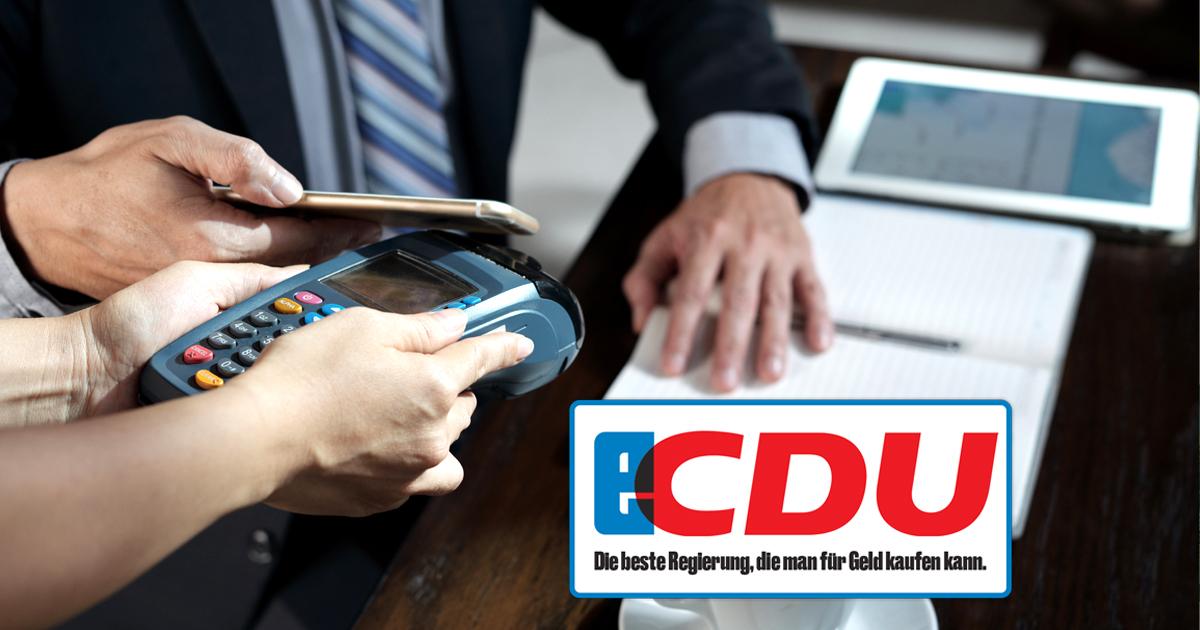Noktara - CDU-Politiker akzeptieren Bestechungen jetzt auch per Apple Pay