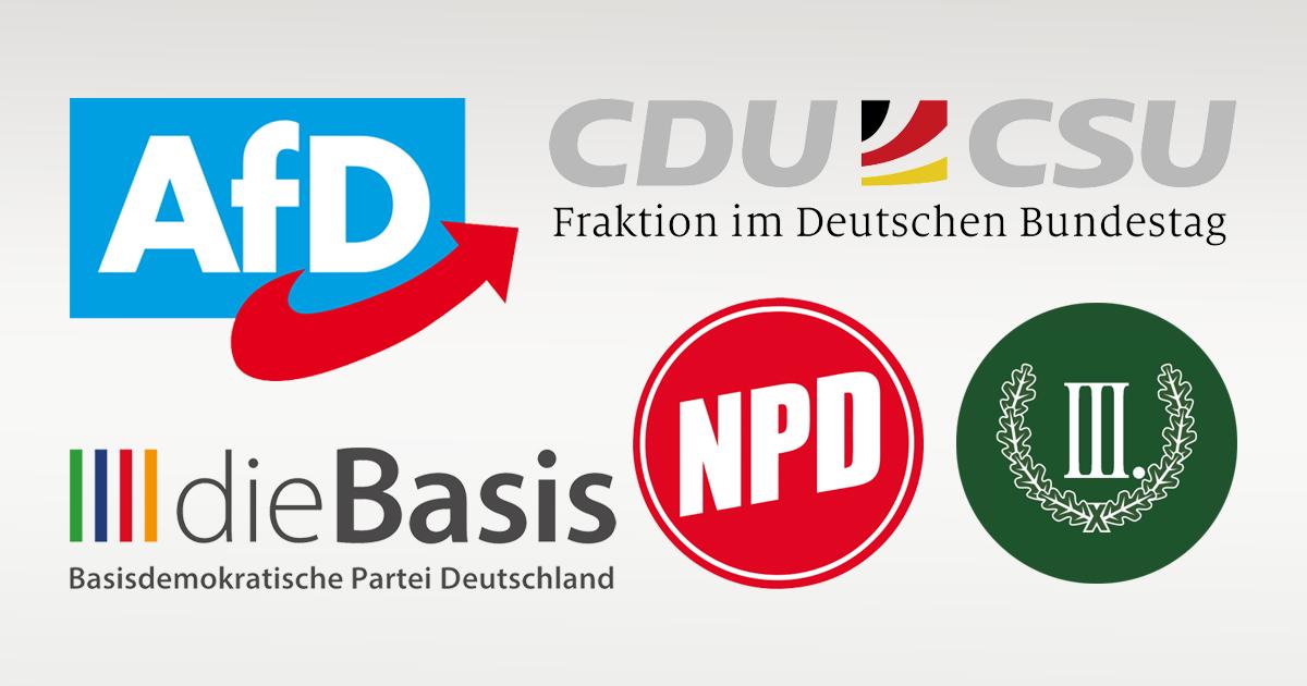 Noktara - CDU:CSU, AfD, NPD, die Basis und III. Weg beginnen Koalitionsgespräche