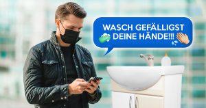 Noktara - Corona-App - Smartphone soll mit Emojis daran erinnern sich die Hände mit Seife zu waschen
