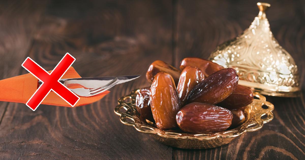 Noktara - Datteln mit Messer und Gabel