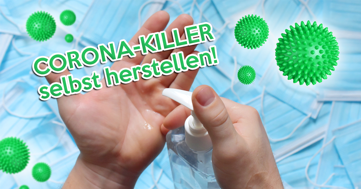 Noktara - Desinfektionsmittel ausverkauft? Corona-Killer einfach selbst herstellen