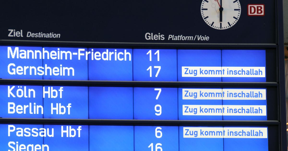 Noktara - Deutsche Bahn gibt als Abfahrtszeit nur noch inschallah an