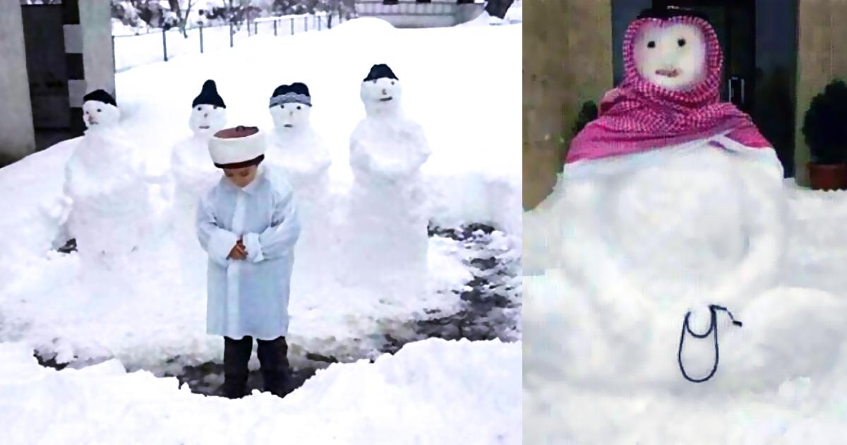 Die 7 coolsten islamischen Schneemänner - Schnee-Imam