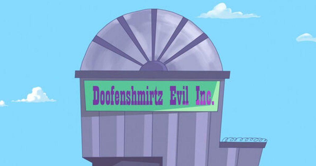 Noktara - Die teuflischsten Unternehmen der Welt - Doofenshmirtz Gesellschaft mit böswilliger Haftung - Phineas und Ferb - Gebäude
