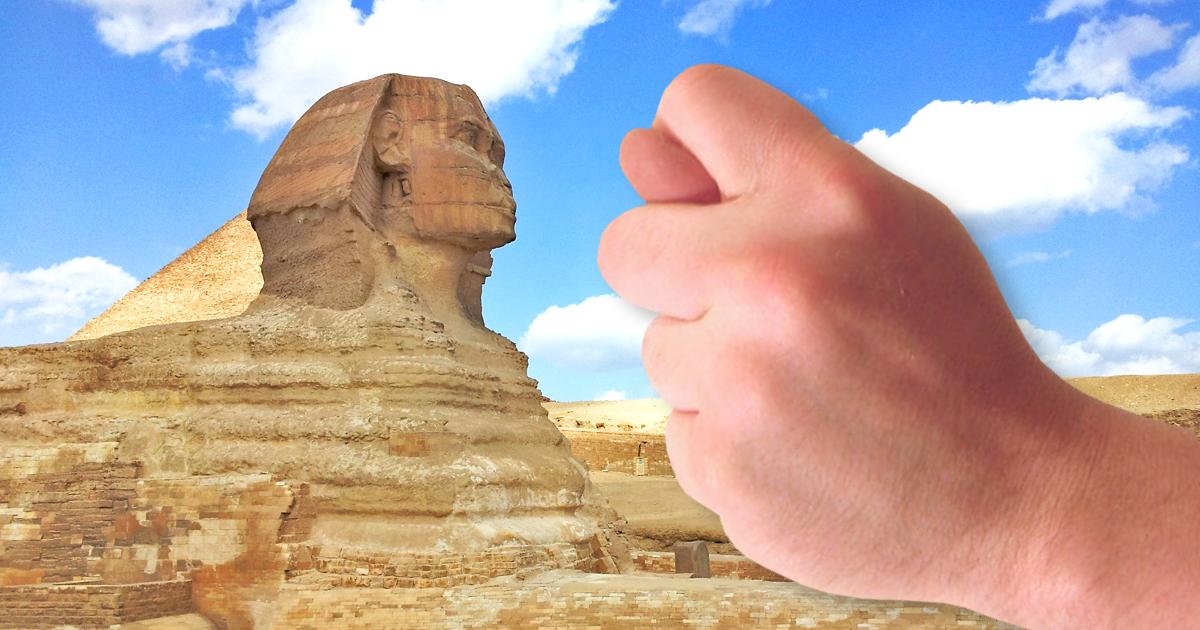 Diebstahl: Onkel der Sphinx klaut ihre Nase
