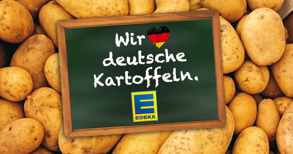 Edeka-Filiale ersetzt alle ausländischen Waren durch deutsche Kartoffeln