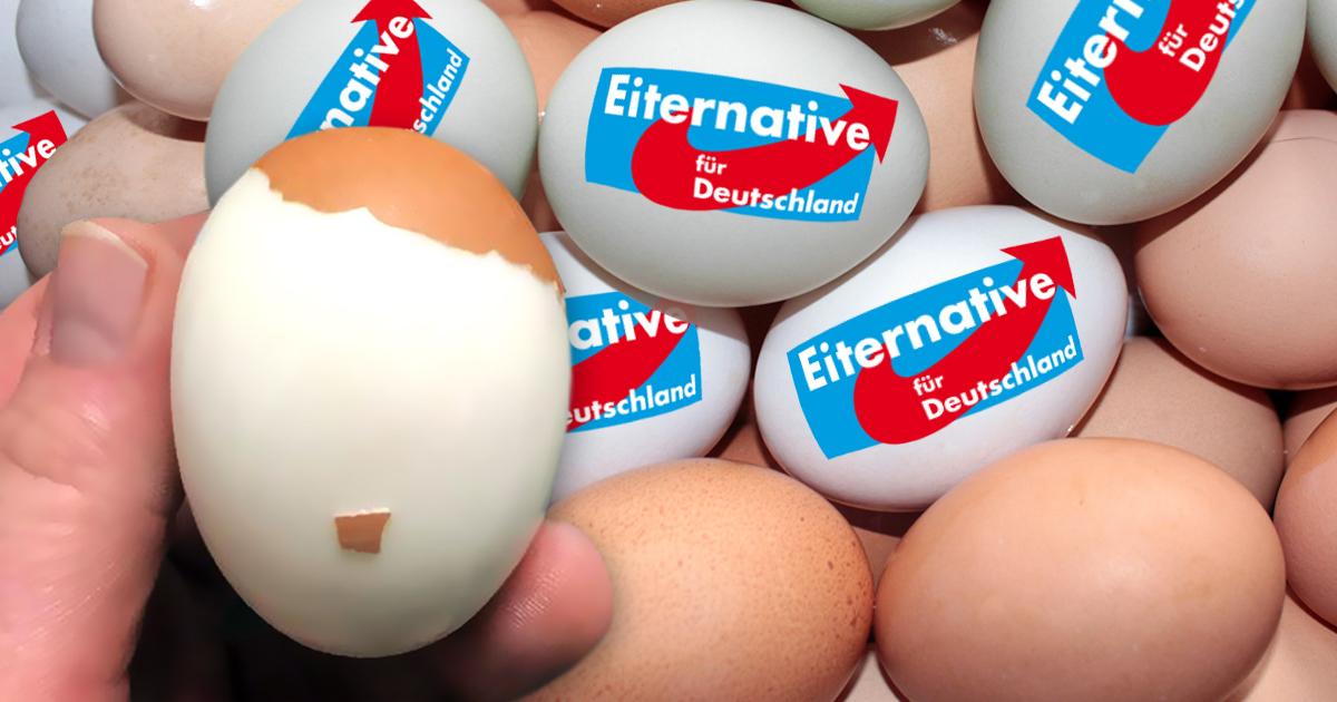 Eiternative für Deutschland fordert Verbot von braunen Eiern