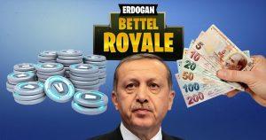 Noktara - Erdogan fordert türkische Fortnite-Spieler zum Lira-Tausch auf