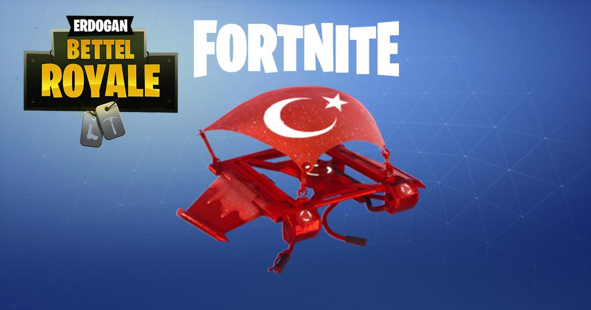 Noktara - Erdogan fordert türkische Fortnite-Spieler zum Lira-Tausch auf - Türkischer Glider Skin