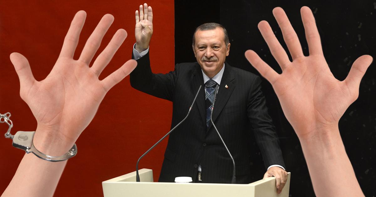 Erdogan lässt alle Linkshänder verhaften