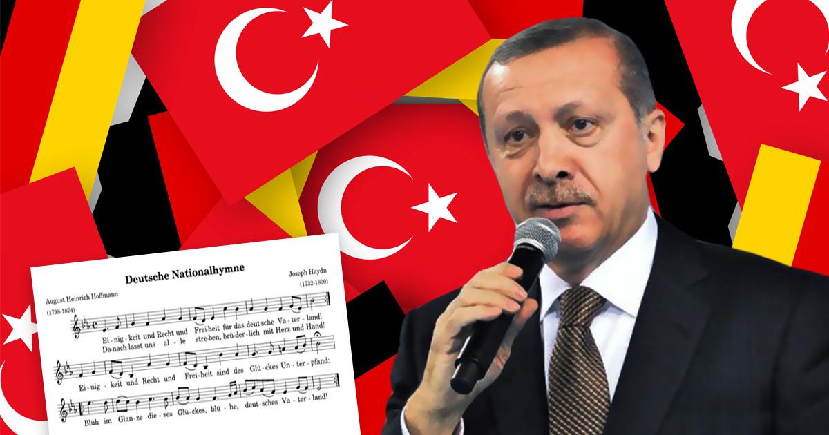 Exklusives Video: Erdogan singt die deutsche Nationalhymne