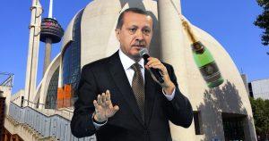 Noktara - Erdogan weiht Zentralmoschee feierlich mit Sektflasche ein