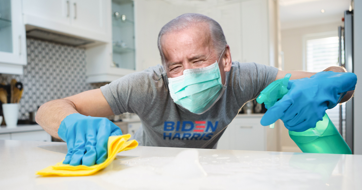 Noktara - Erste Amtshandlung- Joe Biden desinfiziert das Weiße Haus