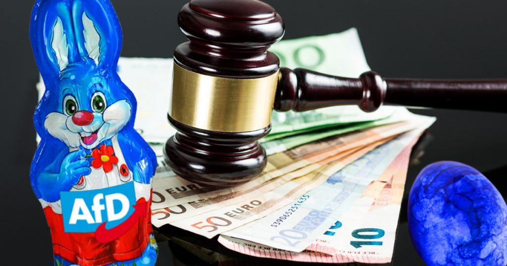 Noktara - Ferrero verklagt AfD, wegen Markenmissbrauch durch blauen Osterhasen