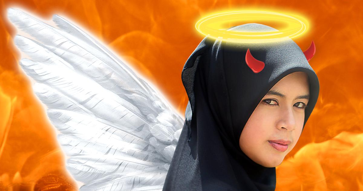 Noktara - Frau mit Kopftuch offenbar doch kein Engel, sondern ein Mensch