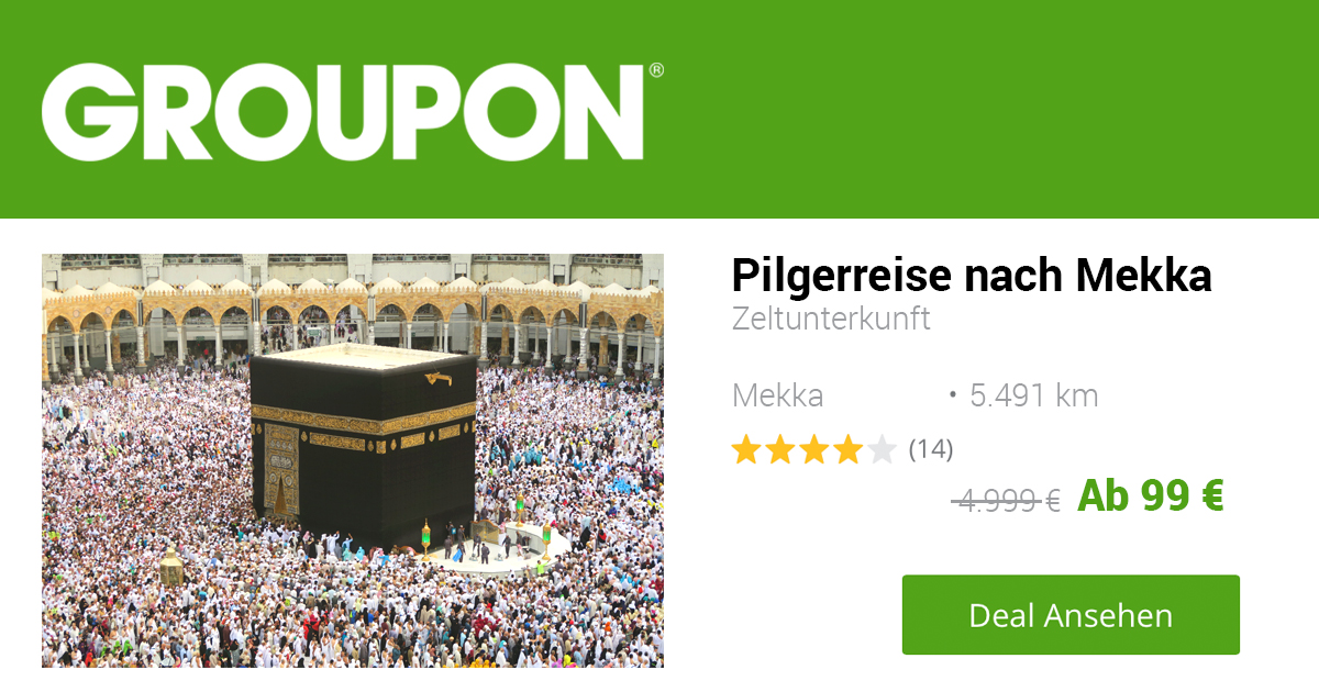 Noktara - Günstige Hadsch - Groupon bietet Pilgerreise ab 99 Euro