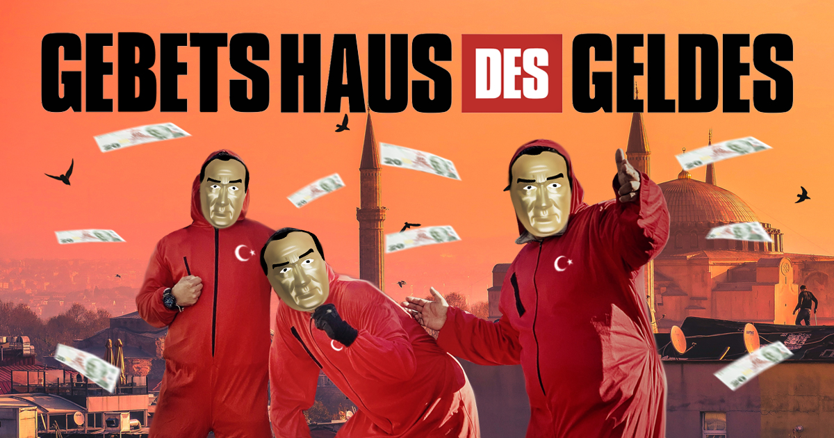 Noktara - Gebetshaus des Geldes- Hacker lassen türkische Lira vom Himmel regnen