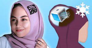 Noktara - Gegen die Hitze - Kopftuch mit eingebauter Klimaanlage