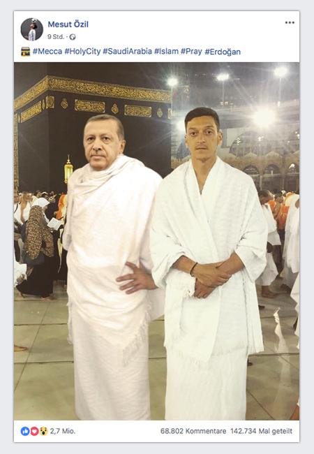 Erdogan-Foto mit Mesut Özil bei der Hadsch.