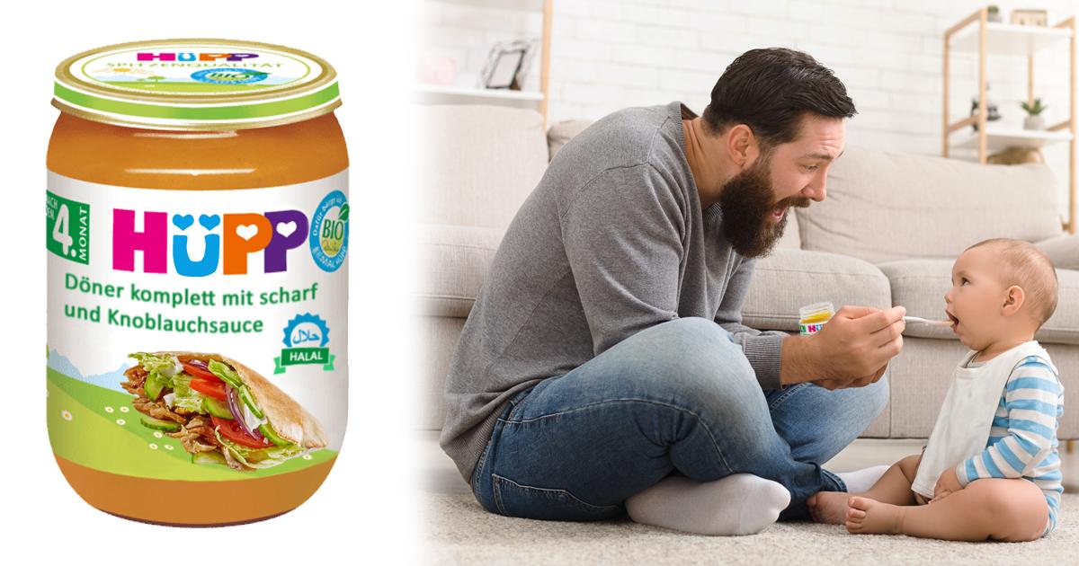 Noktara - HüPP Halal Babynahrung mit lecker Döner und Knoblauchsauce